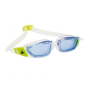 Aqua Sphere Kameleon Blue Lens Junior Goggle - Clear/Lime