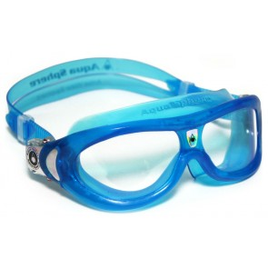 Aqua Sphere SEAL Kid Clear Lens Junior Goggles Blue
