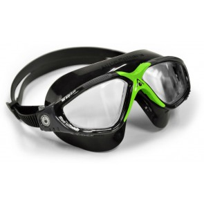 Aqua Sphere VISTA Clear Lens Adult Goggles Black & Green