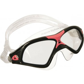 Aqua Sphere SEAL XP2 Clear Lens Men's Goggle Red Black
