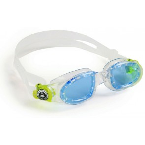 Aqua Sphere MOBY Kid Blue Lens Junior Goggles Clear Green