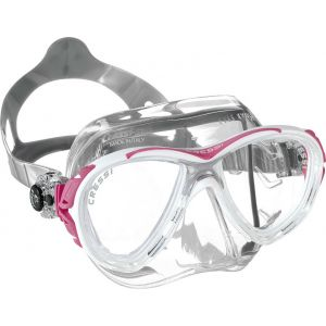Cressi Eyes Evolution Crystal Mask with Clear Skirt